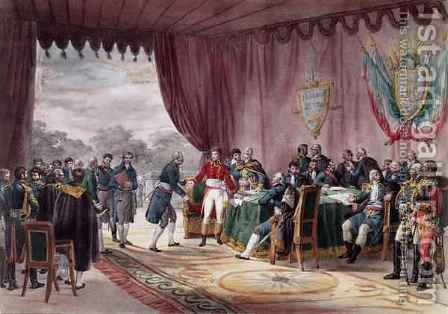 The Signing of the Treaty of Mortefontaine by (after) Adam, V. - Reproduction Oil Painting