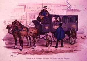 Carriage belonging to the Post Office Headquarters, also known as 'The Postmen's Carriage'