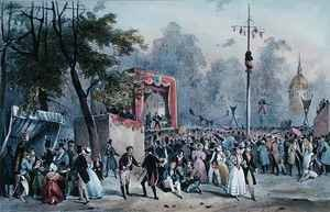 The 'Fete de Roi' at the Champs-Elysees, Paris