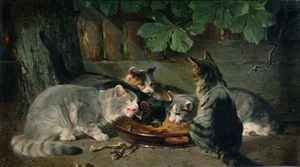 Romanticism painting reproductions: Dinner Time