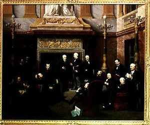 Neo-Classical painting reproductions: The Smoking Room of the National Assembly
