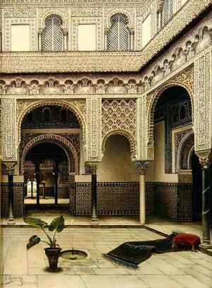 Neo-Classical painting reproductions: Fountain in a Moorish Courtyard