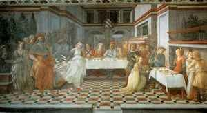Famous paintings of Furniture: Feast of Herod