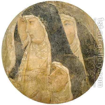 Group of Poor Clares by Ambrogio Lorenzetti - Reproduction Oil Painting