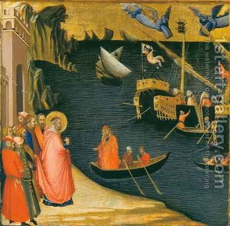 Miracle of Saint Nicolas by Ambrogio Lorenzetti - Reproduction Oil Painting