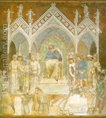 Martyrdom of the Franciscans by Ambrogio Lorenzetti - Reproduction Oil Painting