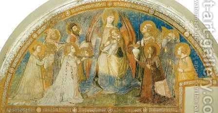 Maesta by Ambrogio Lorenzetti - Reproduction Oil Painting