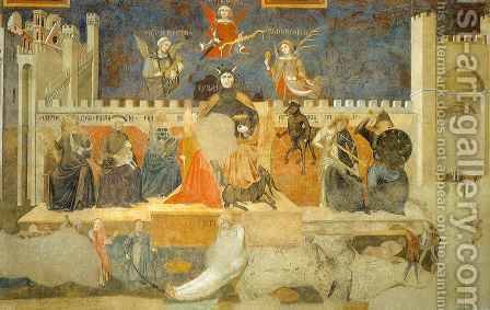 Bad Government, detail by Ambrogio Lorenzetti - Reproduction Oil Painting