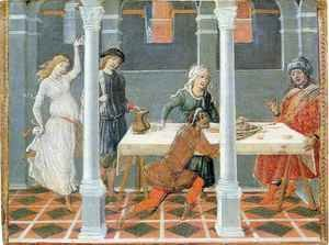Famous paintings of Furniture: Banquet of Herod