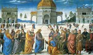 Pietro Vannucci Perugino reproductions - Delivery of the Keys to Saint Peter