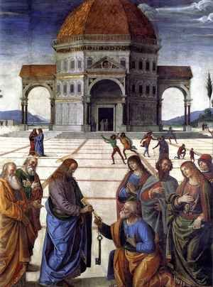 Reproduction oil paintings - Pietro Vannucci Perugino - Delivery of the Keys to Saint Peter, detail