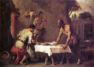 Famous paintings of Furniture: Satyr and a Farmer