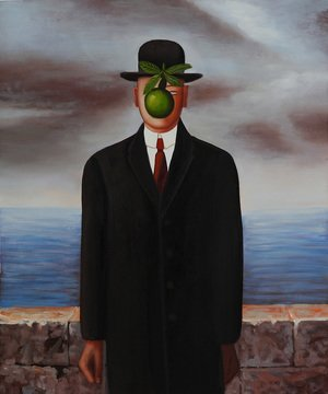 Famous paintings of Apples: The Son of Man