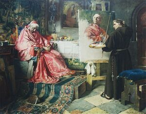 Famous paintings of Religion & Philosophy: The Cardinal's Portrait