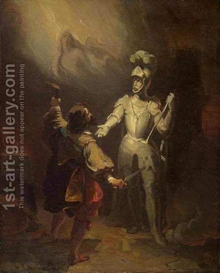 Don Juan and the Statute of the Commander by Alexandre Evariste Fragonard - Reproduction Oil Painting