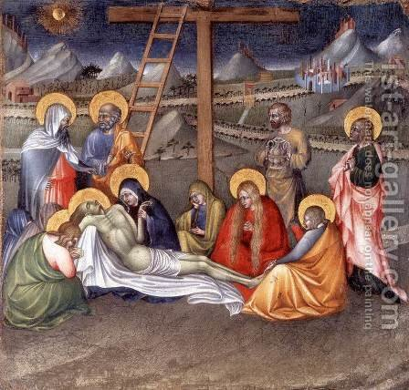 Lamentation over the Dead Christ by Giovanni di Paolo - Reproduction Oil Painting