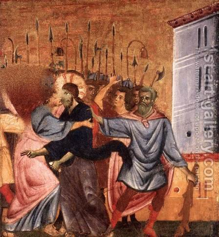 Kiss of Judas by Guido Da Siena - Reproduction Oil Painting