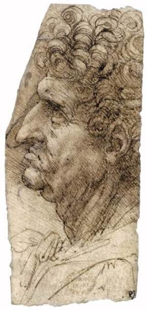 Reproduction oil paintings - Leonardo Da Vinci - Head of a Man Facing to the Left