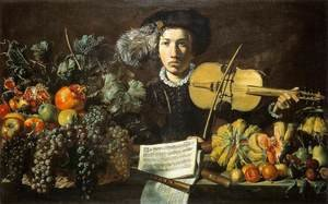 Famous paintings of Men: Still-Life with a Violinist