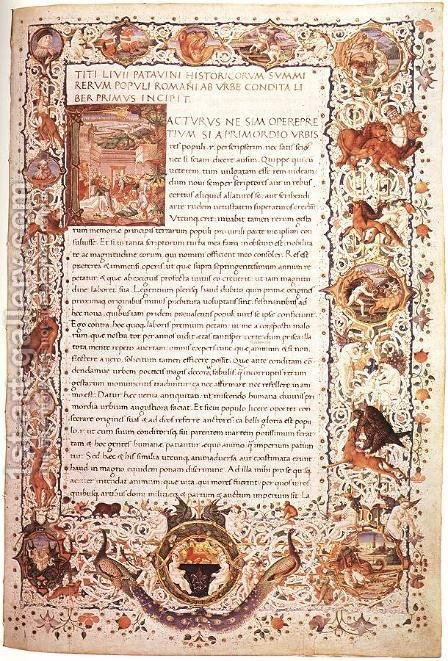 Livius Codex by Italian Miniaturist - Reproduction Oil Painting