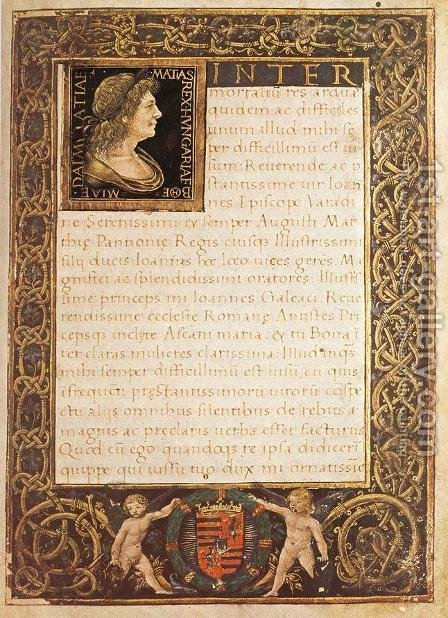 Marlianus Codex by Italian Miniaturist - Reproduction Oil Painting