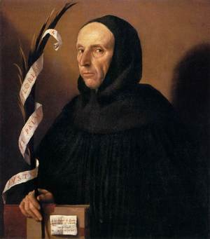 Famous paintings of Men: Portrait of a Dominican, Presumed to be Girolamo Savonarola