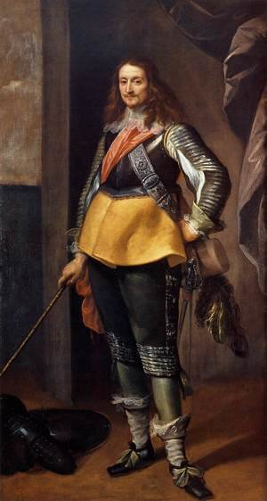 Famous paintings of Men: Portrait of a Gentleman in Armour