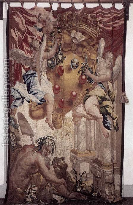 Door hanging by Giovanni Camillo Sagrestani - Reproduction Oil Painting