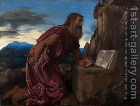 St Jerome by Giovanni Girolamo Savoldo - Reproduction Oil Painting
