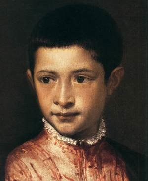 Famous paintings of Portraits: Portrait of Ranuccio Farnese (detail)