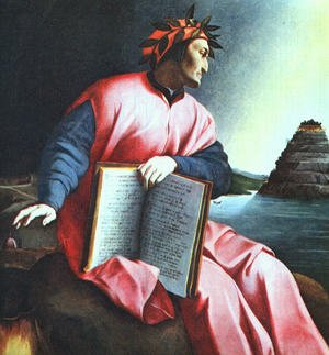 Famous paintings of Portraits: Allegorical Portrait of Dante
