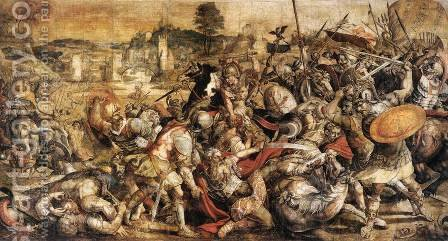 The Battle of the Ticino by Italian Unknown Masters - Reproduction Oil Painting