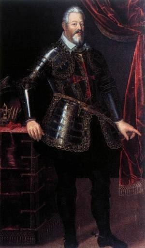 Famous paintings of Portraits: Ferdinando I de' Medici Dressed as Gran Maestro of the Order of St Stephen
