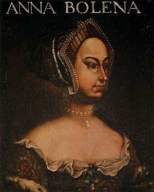 Famous paintings of Portraits: Portrait of Anne Boleyn