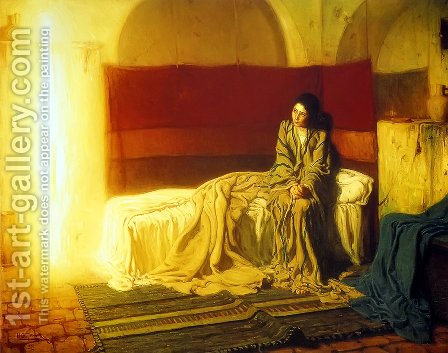 Henry Ossawa Tanner: The Annunciation - reproduction oil painting