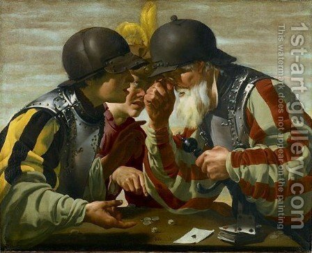 The Gamblers by Hendrick Terbrugghen - Reproduction Oil Painting