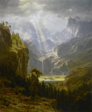 Reproduction oil paintings - Albert Bierstadt - Lander's Peak