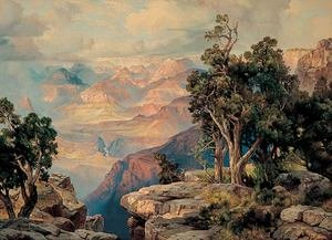 Reproduction oil paintings - Thomas Moran - Grand Canyon of Arizona on the Santa Fe