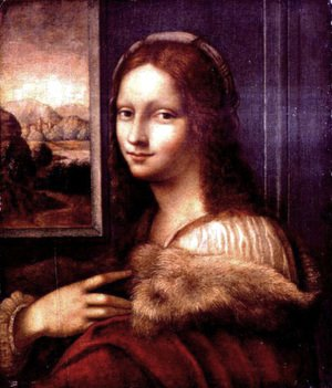 Reproduction oil paintings - Leonardo Da Vinci - Young lady with a fur