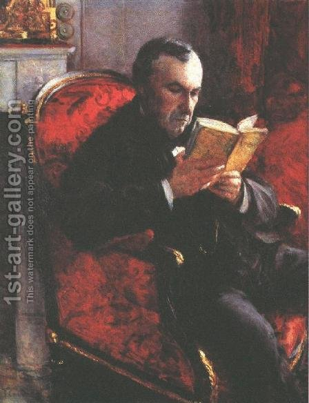 Portrait of Eugene Daufresne by Gustave Caillebotte - Reproduction Oil Painting