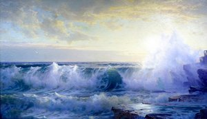 Reproduction oil paintings - William Trost Richards - Newport Coast 2
