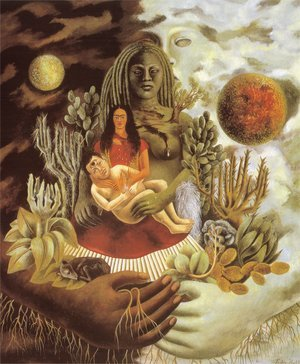 Reproduction oil paintings - Frida Kahlo - Love's Embrace of the Universe, Earth