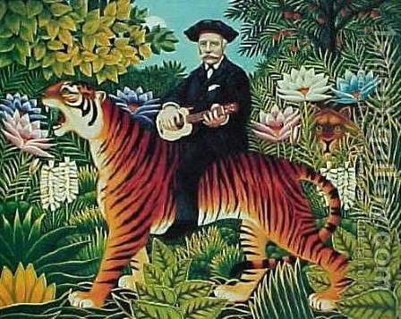 Traumgarten by Henri Julien Rousseau - Reproduction Oil Painting