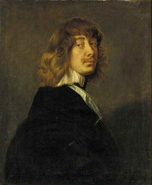 Famous paintings of Portraits: Portrait of Algernon Percy, 10th Earl of Northumberland (1602-1668), quarter-length, in a dark coat with white collar