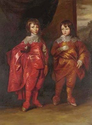 Reproduction oil paintings - Sir Anthony Van Dyck - Portrait of George Villiers, 2nd Duke of Buckingham (1627-1687), and his brother Lord Francis Villiers (1629-1648)