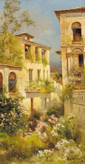 Famous paintings of Spain: A Spanish villa