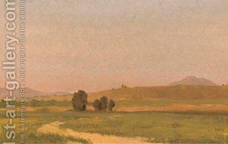 Nebraska, On the Plains 2 by Albert Bierstadt - Reproduction Oil Painting