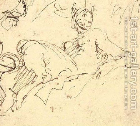 A faun seated on a bank by Giovanni Battista Tiepolo - Reproduction Oil Painting
