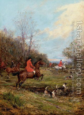 Crossing the Ditch by Heywood Hardy - Reproduction Oil Painting