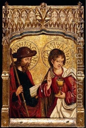 Saints John The Evangelist And James The Greater by - Unknown Painter - Reproduction Oil Painting